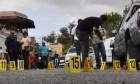 escena crimen En 12 meses han ultimado a 24 policías en RD