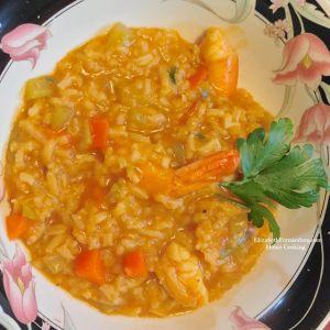 foto de cocinandoencasadeliz https 2f2fwww instagram com2fp2fbo pi6dlann2f Comida de las 12: Asopaito de camarones