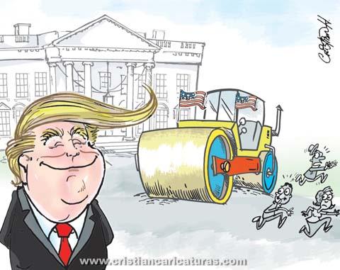 trump10 Caricatura – ¡¡Llegó!!