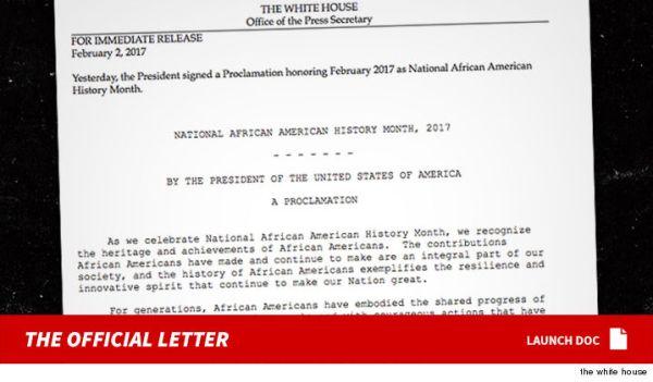 carta Trump cambia el Mes de la Historia Negra por Mes de la Historia Afroamericana