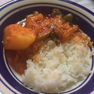 comida2 Comida de las 12: Arroz y bacalao