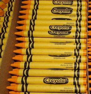 diente de lec3b3n Crayola revela el color del crayón que va a retirar