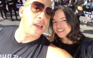 vin diesel michelle rodriguez Video: Vin 'cacopelao' Diesel y Michelle Rodríguez en Washington Heights