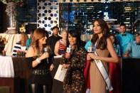 Cantante Mexicana Diana Reyes, Birmania Ríos y Miss Universo