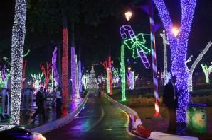 """El parque """"Brillante Navidad"""".Fotos via http://www.flickr.com/photos/presidenciard/"""