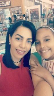 merly Calderón y mi niña Mía valenzuela