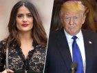 Trump a Salma Hayek 300x225 Tu jevo no es bastante bueno para tí, tienes que venir conmigo