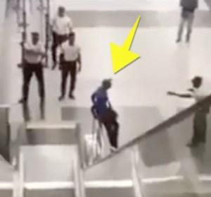 haitiano machete 300x279 Video: Apresan haitiano quiso entrar con machete al Metro de Santo Domingo