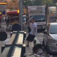 Video - Pelea con colín en mano en NY