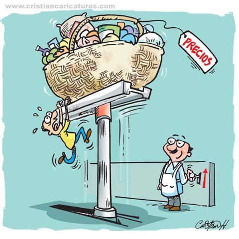 """caricatura 2 Caricatura: """"Subida de precios…"""""""