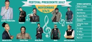 festival presidente 300x138 Los artistas que van pal Festival Presidente 2017