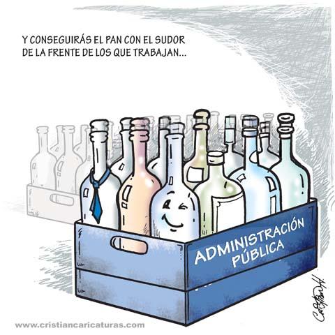 Botellero público Caricatura: Botellero público...