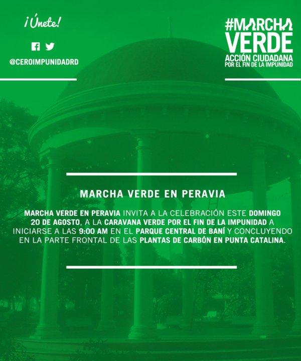 Marcha Verde mañana pa Punta Catalina