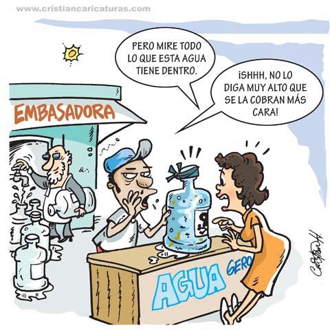 "caricatura 1 Caricatura: ""Salud Pública cierra envasadoras de agua..."""