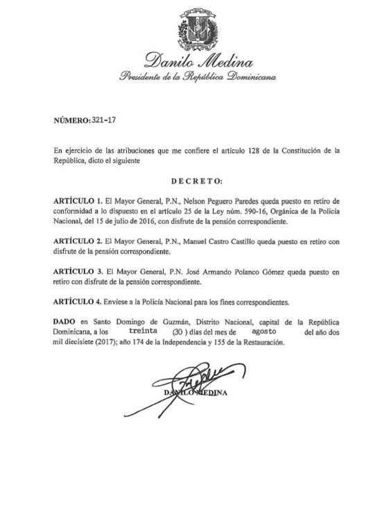 decreto2 Tituá! – 'Detutanan' al director de la Policía Nacional