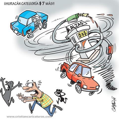 """caricatura Caricatura: """"Huracán categoría 7"""""""