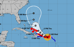 maria 300x191 Minuto a minuto: El huracán María avanza hacia PR