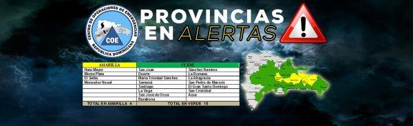 COE 600x183 Vaguada y onda tropical: 19 provincias en alerta