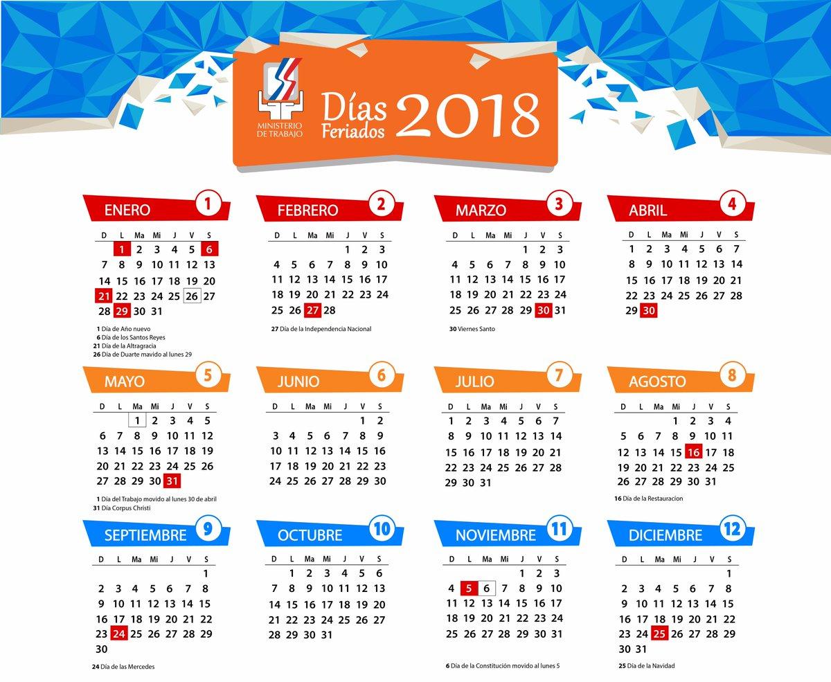Calendario 2018 Guatemala Con Feriados