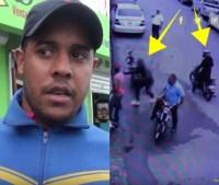 asalto 200x169 Video: Asaltan mensajero y le quitan RD$300 mil