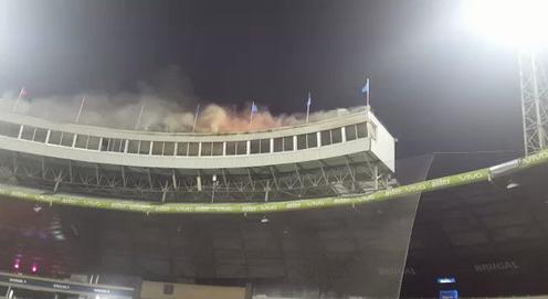 Resultado de imagen para palco quemado del estadio quisqueya