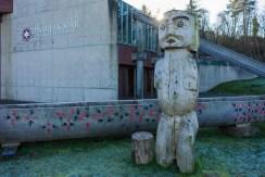 印第安人的木雕