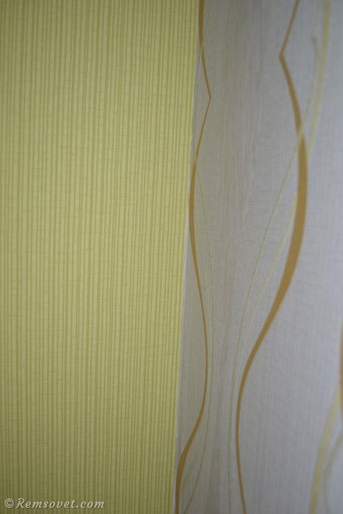 Как клеить обои разных цветов на стены. Как стыковать обои ...