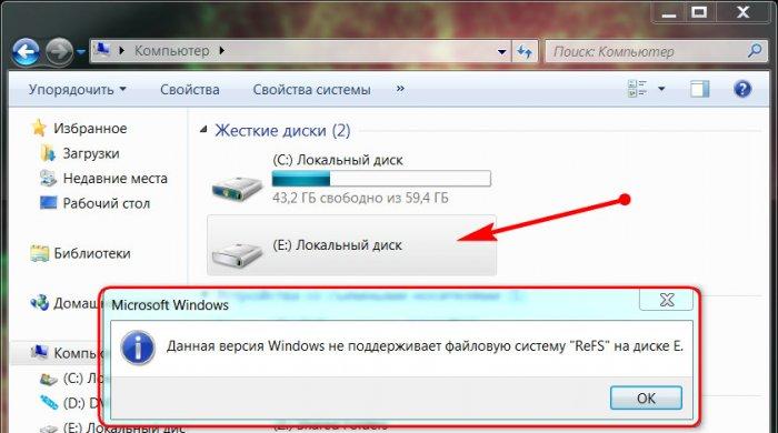 Как получить доступ к диску с файловой системой ReFS в среде Windows 7 и 8.1