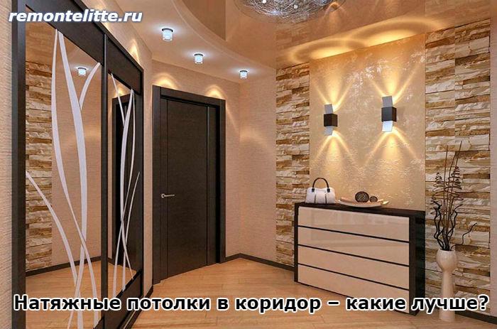натяжные потолки в прихожей фото дизайн 6