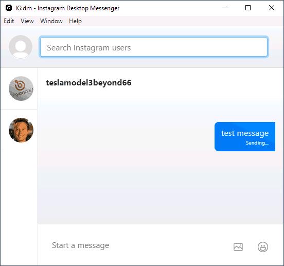 Программа Instagram Direct Messenger для компьютера