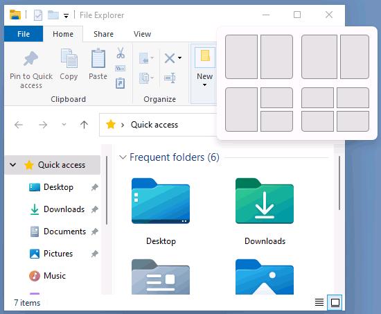 Изменение расположения окон в Windows 11