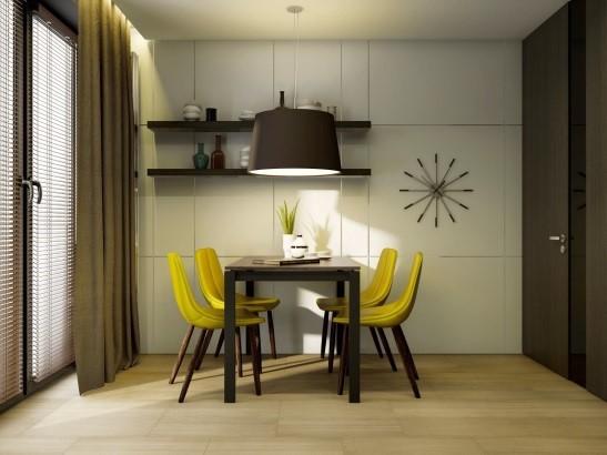 Оформление стены на кухне возле стола: фото удачных идей ...