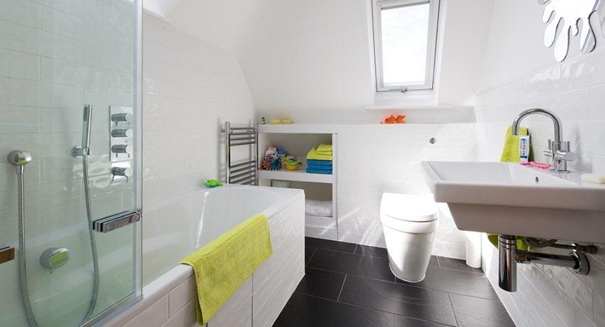 дизайн ванной комнаты совмещенной с туалетом 2