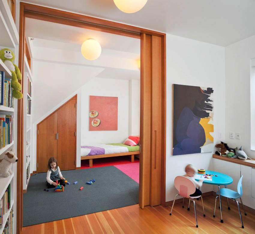как разделить детскую комнату