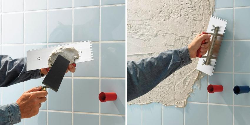 Жаңа қабаттың бекітуін жақсарту үшін ескі базаға бетон байланыстары қолданылады