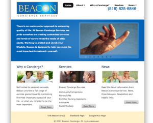 Eldercare site build by Moran Media