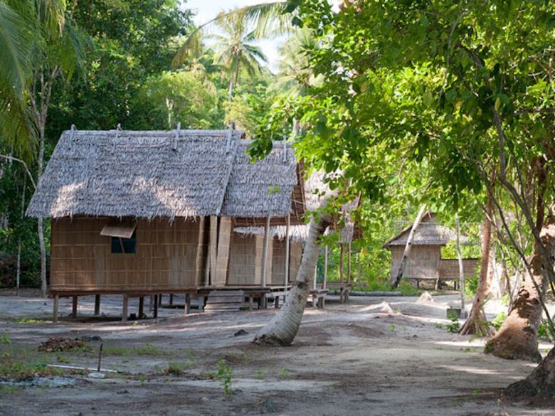 beach bungalow at Tau Yado homestay in Raja Ampat
