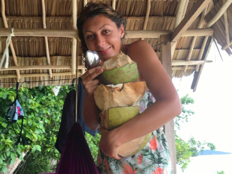Raja Ampat fresh coconuts coconut water island life