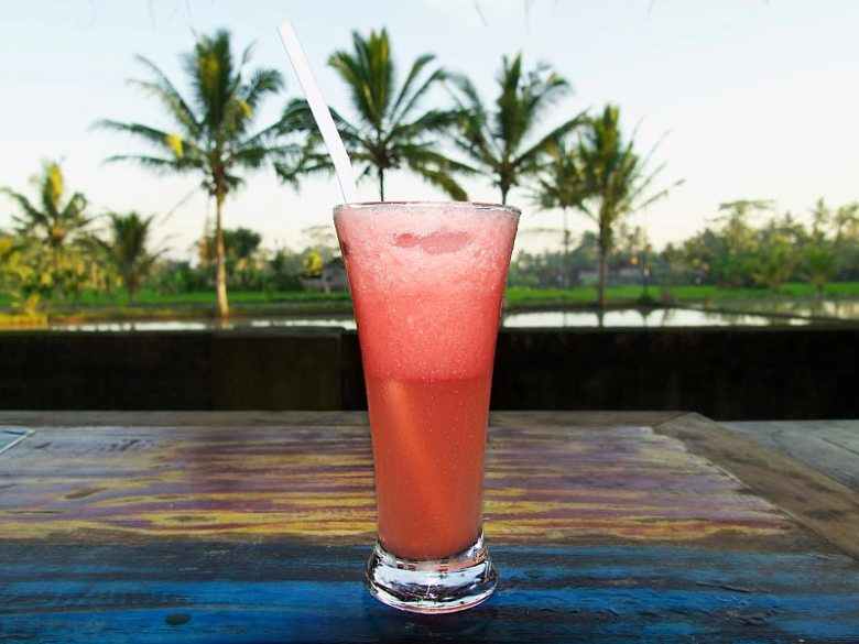 Watermelon fruit shake Warung Sambal Locok Ubud