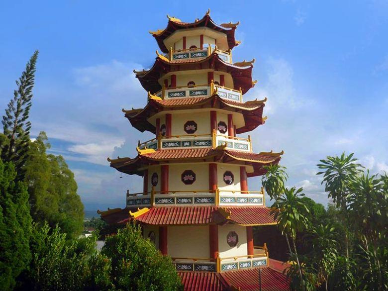Sapta Ratna Pagoda building in Sorong