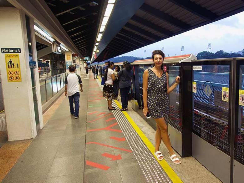 Singapore Kranjii MRT station platform
