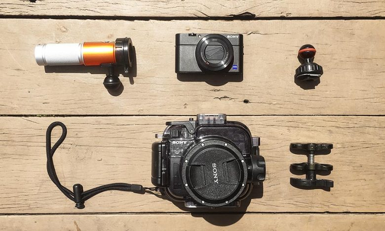 Sony camera equipment for scuba diving