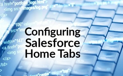 Configuring Salesforce Home Tabs