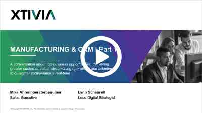 CRM and Manufacturing Live Session