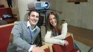 Raúl y Valeria, compas de Didáctica de la Educomunicación en el máster de Educación y Comunicación en la Red, de la UNED