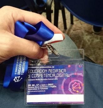El badge del congreso de Segovia