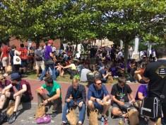 Panorámica de asistentes al congreso a la hora de comer :)