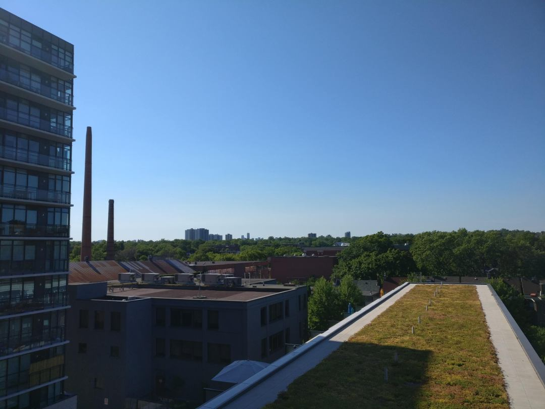 view from the carlaw condos in leslieville