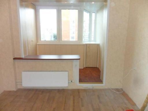 Объединение лоджии с комнатой или кухней (16 фото ...