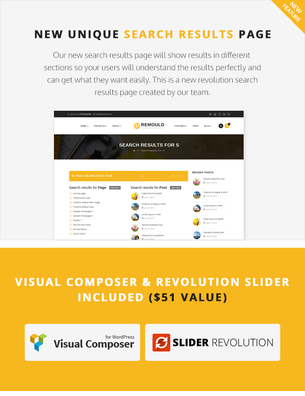 Remould WordPress Theme - Visual Composer and Revolution Slider included